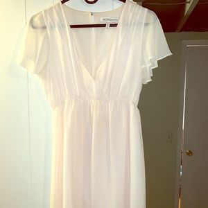 BCBG off white short dress